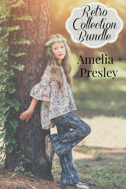 Retro Back To School Collection: Amelia and Presley
