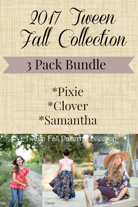 2017 Fall Tween Patterns - Pattern Bundle of 3