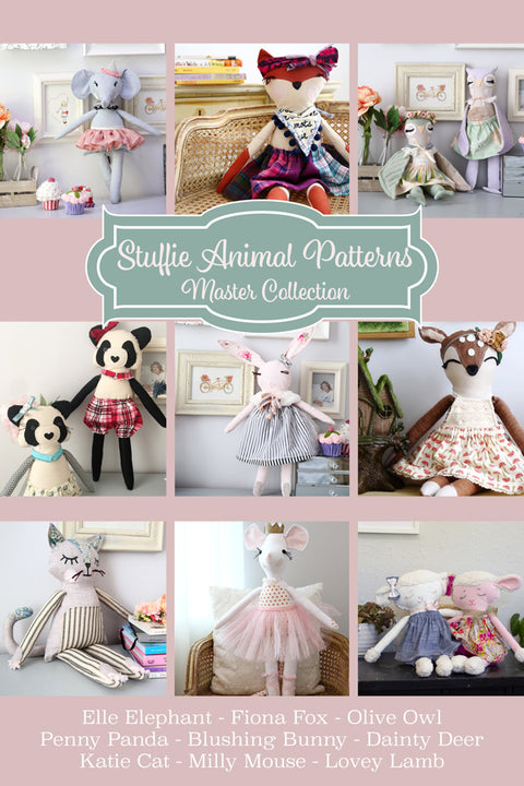 Stuffie Animal Patterns - Master Collection of 9