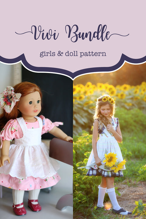 Vivi Girl + Doll Pinafore Bundle