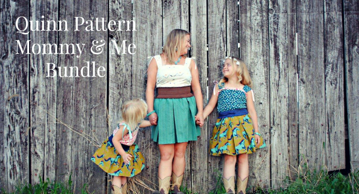Quinn Mommy and Me Sewing Pattern Bundle
