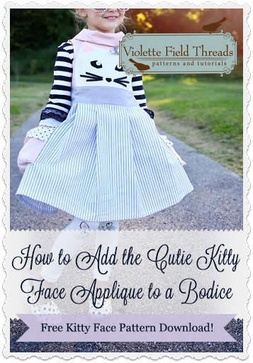 How to Add the Cutie Kitty Face Applique to a Bodice