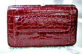 Alligator Clutch Wallet/Bag w Leather Shoulder Strap