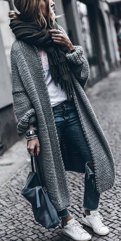 Cool Long Knitted Cardigan