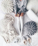 Beautiful Warm Thick Handmade Knitted Blanket