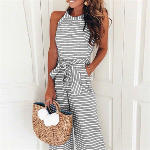 LePastell Summer Fun Striped Wide Leg Playsuit