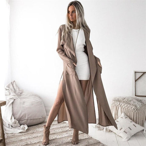 Elegant Stylish Light Fall Trench Coat