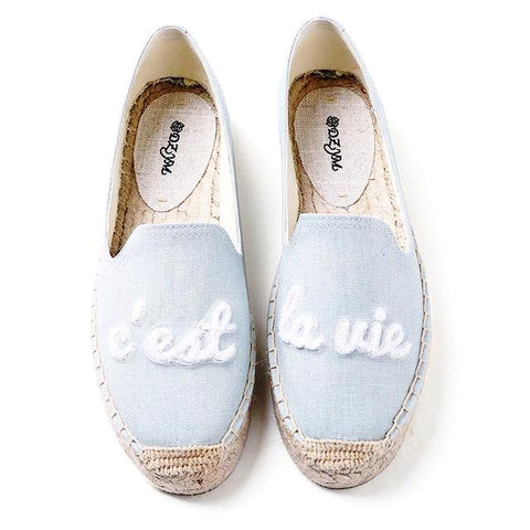 Ciao Bella Embroidered Canvas Espadrilles