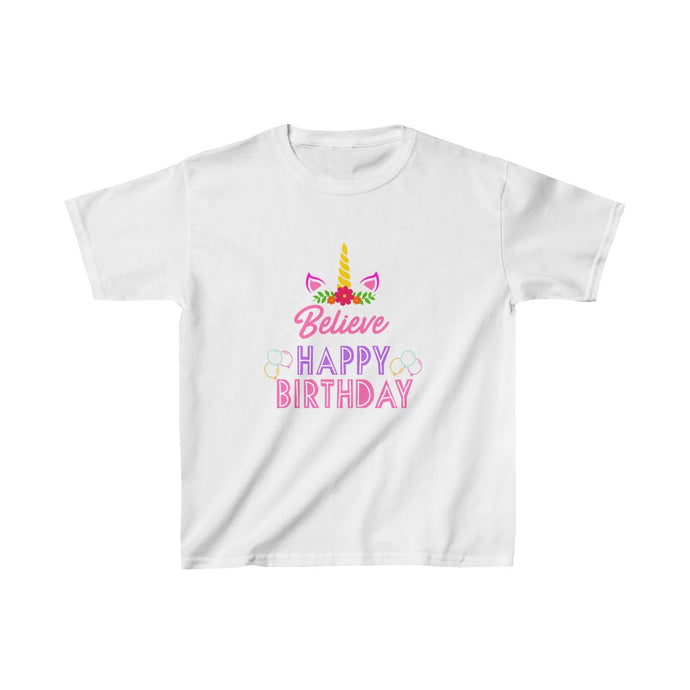 Unicorn Believe Happy Birthday Kids Heavy Cotton™ Tee
