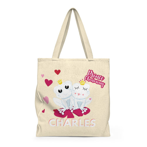 Frog Valentine Personalized Valentine's Day Tote Bag