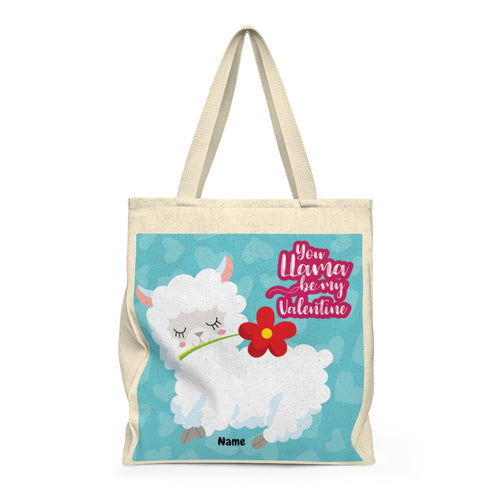You LLama be my Valentine/Valentine's Day Tote Bag