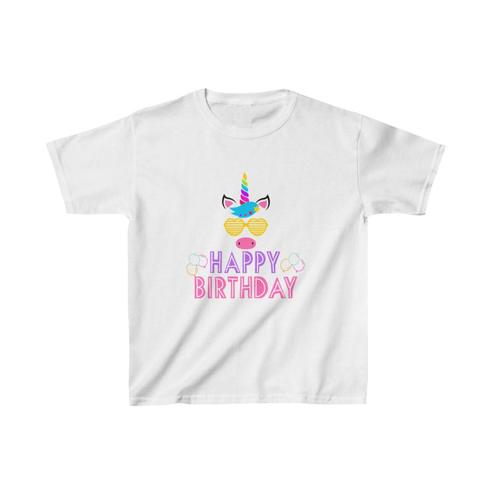 Cool Unicorn Happy Birthday Kids Heavy Cotton™ Tee