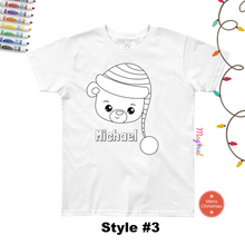 Christmas friends Faces Kids Washable Personalized Coloring T-shirts