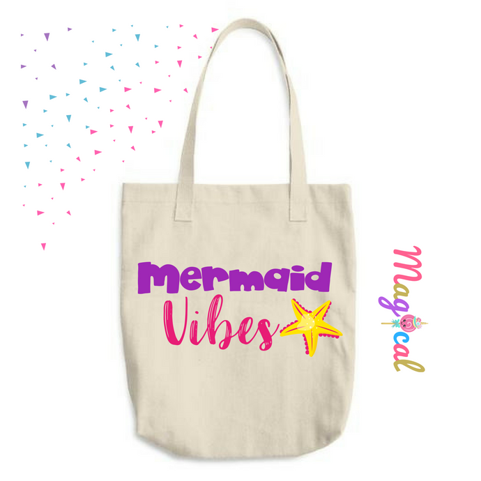 Mermaid Vibes KIDS COTTON TOTE BAG