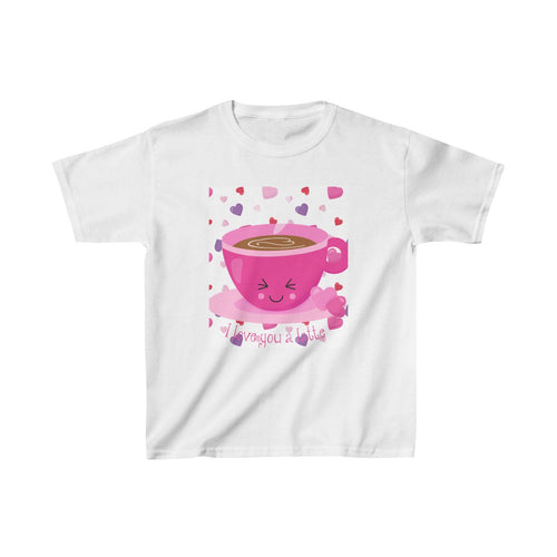 I love you a latte Valentine  Kids Heavy Cotton™ Tee