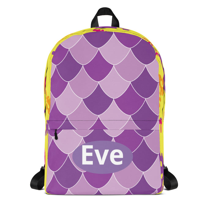 Purple Marmaid Tail Backpack