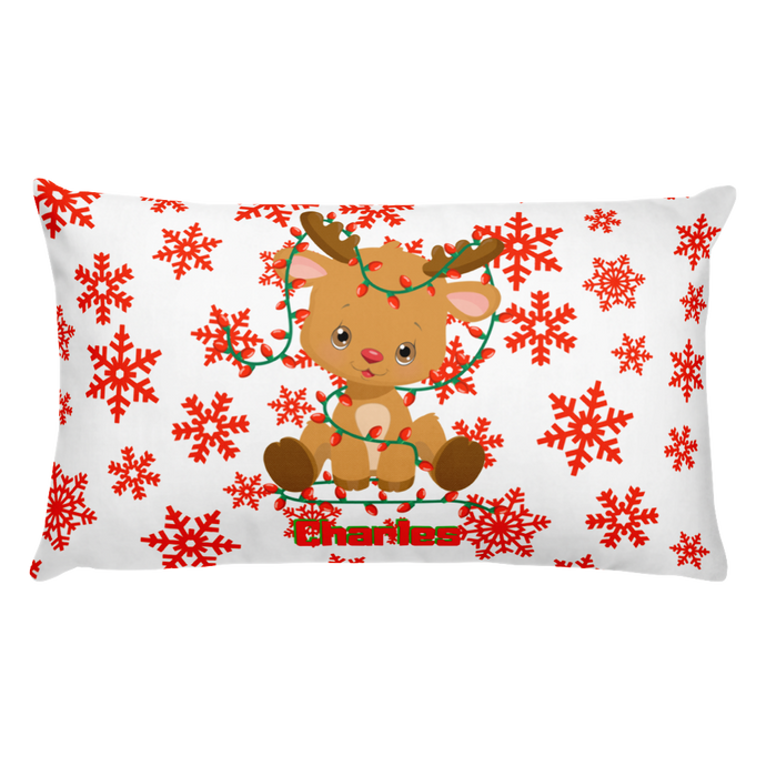Baby Reindeer Personalized Basic Pillow