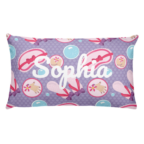 Spa Party Personalized Pillow