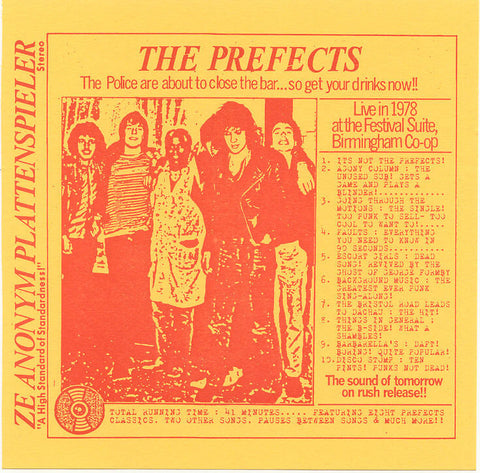 The Prefects- Live 1978 The Festival Suite Birmingham (CTRUE2) - Caroline True Records