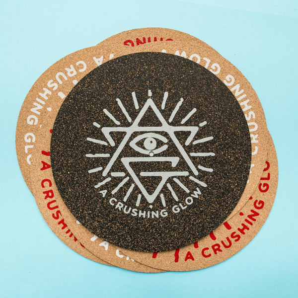 Matt Sewell's A Crushing Glow Presents-Ltd Cork & Rubber Turntable Mat