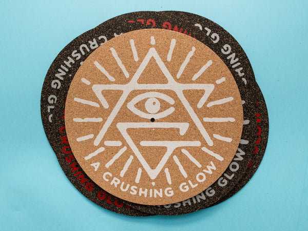 Matt Sewell's A Crushing Glow Presents-Ltd Cork Turntable Mat