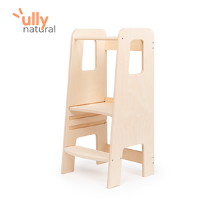 ully natural, la tour d'apprentissage en bois naturel