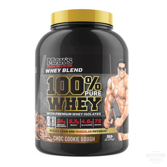 Max's 100% Pure WheyProteinMAX'S - Nutrition Industries