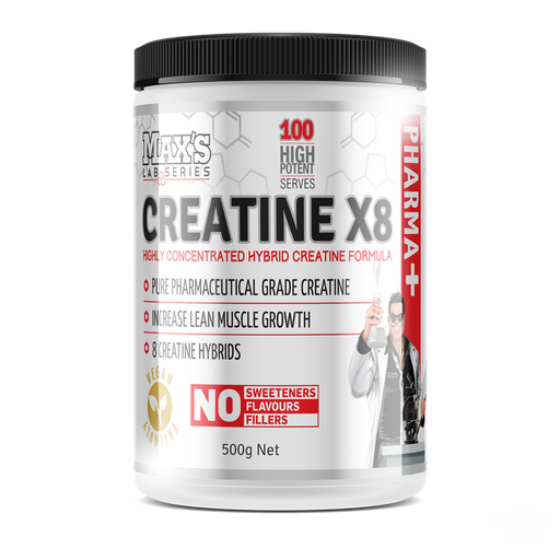 Max's Lab Series Creatine X8 500g - Nutrition Industries Australia