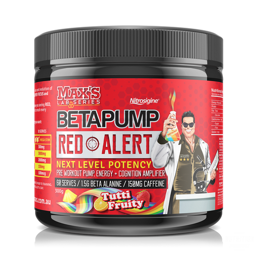Max's BetaPump RED ALERT - Nutrition Industries Australia