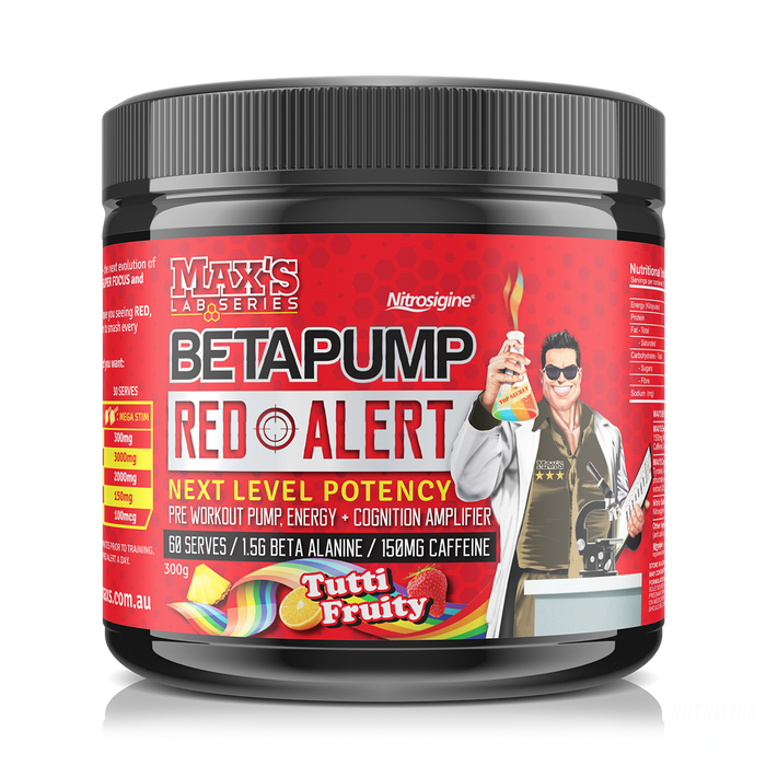 Max's BetaPump RED ALERTPre-workoutMAX'S - Nutrition Industries