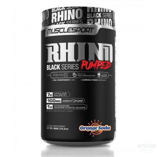 Muscle Sport Rhino Black Series PumpedPre-workoutMuscle Sport - Nutrition Industries