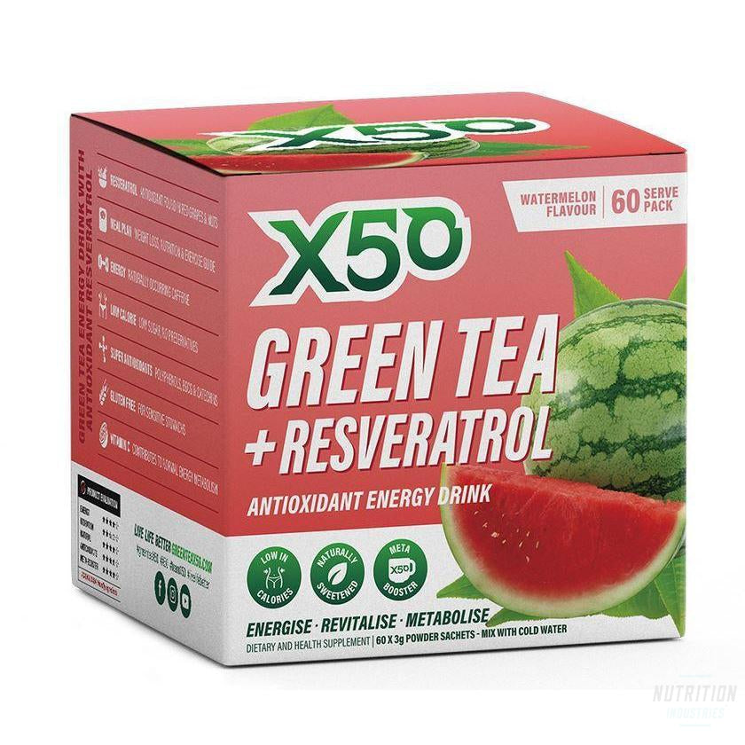 X50 Green Tea + ResveratrolTeaX50 - Nutrition Industries