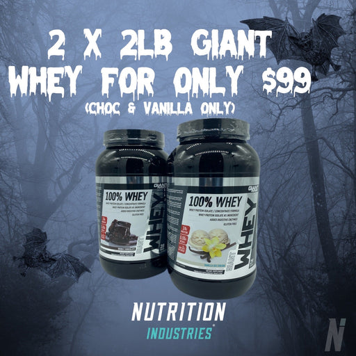 Halloween Sale - 2 X 2lb Giant whey - $99