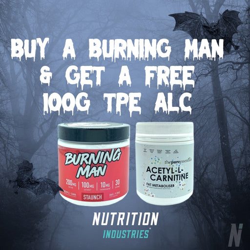 Halloween Sale - Buy burning man get a FREE Acetyl L Carnitine