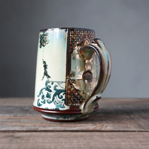 Gold Luster Raised Mug 34- Leap of Faith and Benji