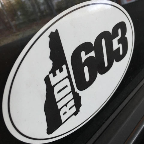 Ride 603 Oval Decal - Pink or White