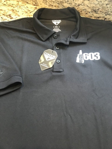Ride 603 Black Tactical Polo Shirt
