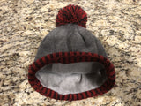 Ride 603 Pom Pom Knit Hat Red/Gray