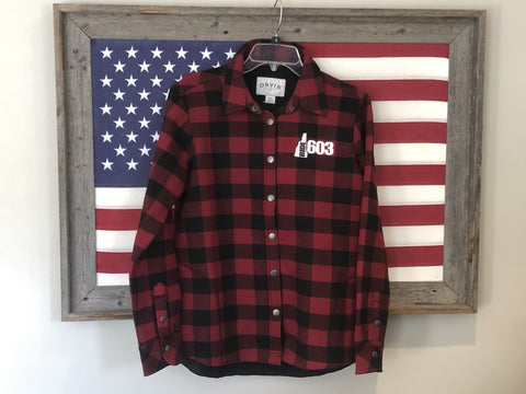 Ride 603 Plaid/Fleece lined Ladies Jacket shirt