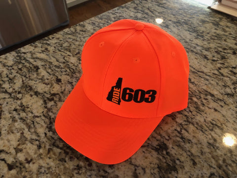 Orange Ride 603 Cap (Velcro)