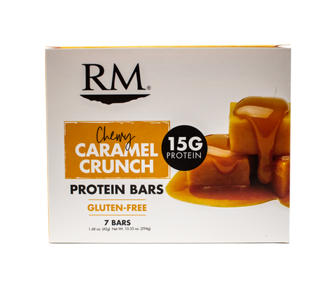 Protein Bar, Chewy Caramel Crunch - 1 box (min. order of 3 boxes)
