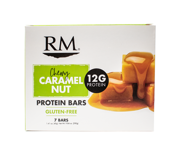 Protein Bar, Chewy Caramel Nut - 1 box (min. order of 3 boxes)