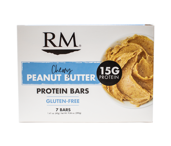 Protein Bar, Chewy Peanut Butter - 1 box (min. order of 3 boxes)