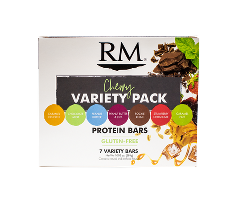 Protein Bar, Chewy Variety Pack - 1 box (min. order of 3 boxes)