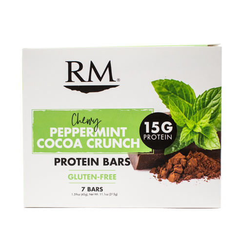 Protein Bar, Chewy Peppermint Cocoa Crunch - 1 box (min. order of 3 boxes)