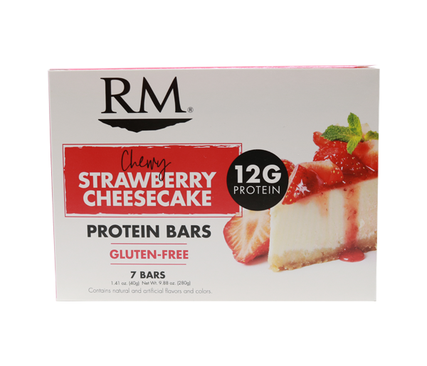 Protein Bar, Chewy Strawberry Cheesecake - 1 box (min. order of 3 boxes)
