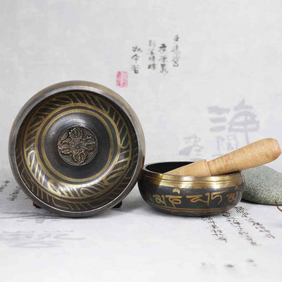 «Moon Bowl» Tibetan singing bowl for Chakra and Meditation