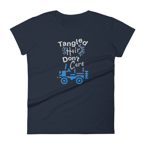 """Tangled Hair Don't Care"" Fashion Fit T-shirt"