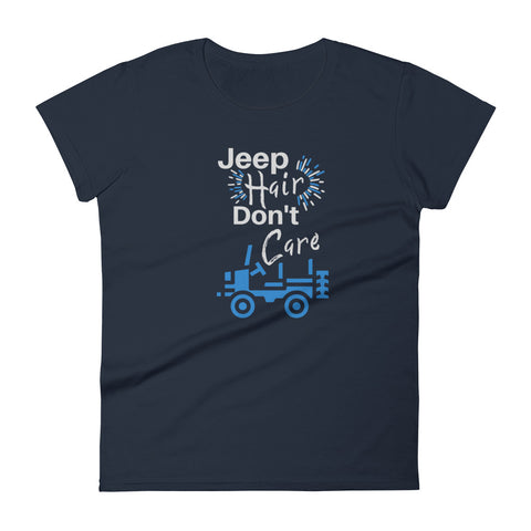 """Jeep Hair Don't Care"" Fashion Fit T-shirt"