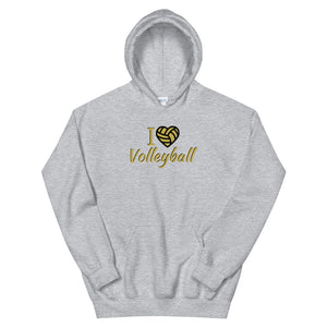 """I Love Volleyball"" Hoodie"